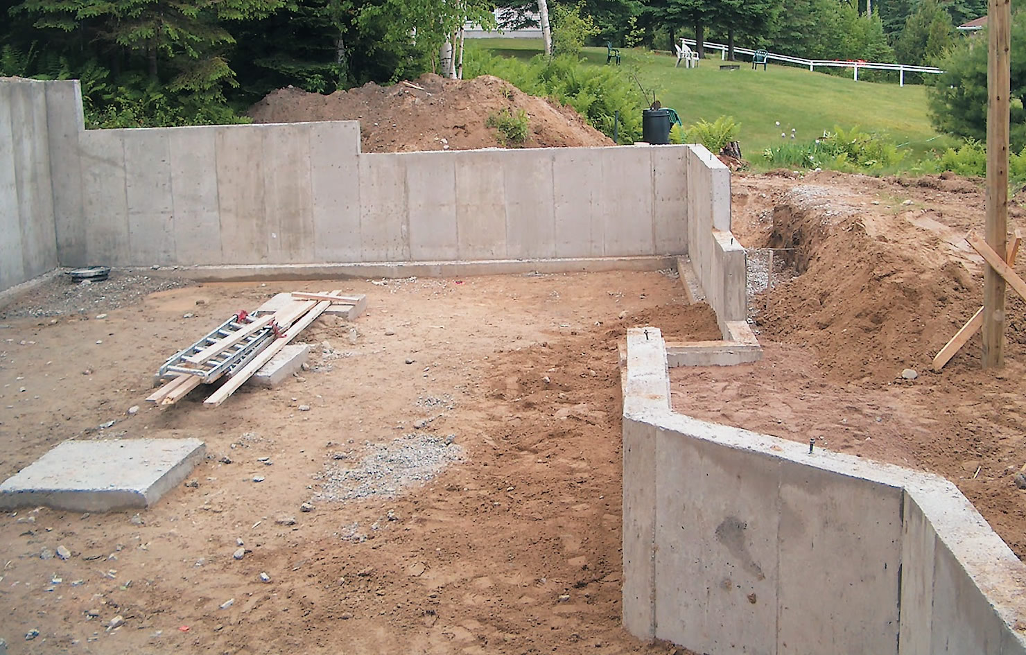Room additions with footings buchheit construction for Building a basement foundation