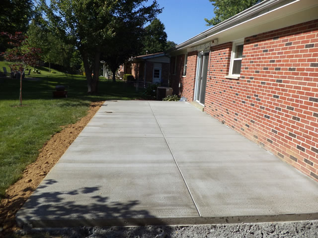 a patio concrete patios here stamped tinted ideas brown and backyard s pictures