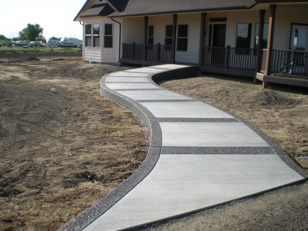 Concrete sidewalk gallery archives buchheit construction for Concrete home design ideas