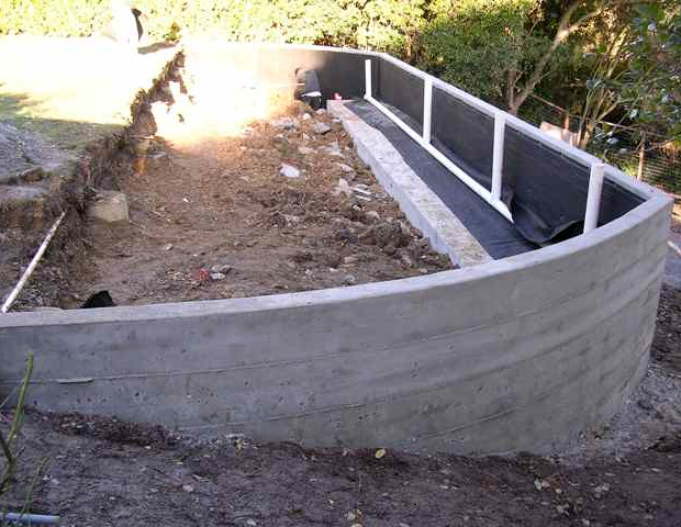 Retaining Wall Expands Space Buchheit Construction