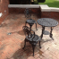 stamped brick patio