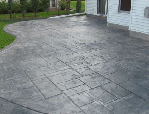 Backyard Stamped Concrete Patio