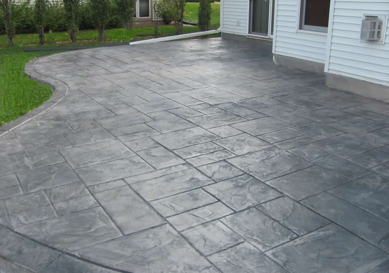 Backyard Stamped Concrete Patio Buchheit Construction