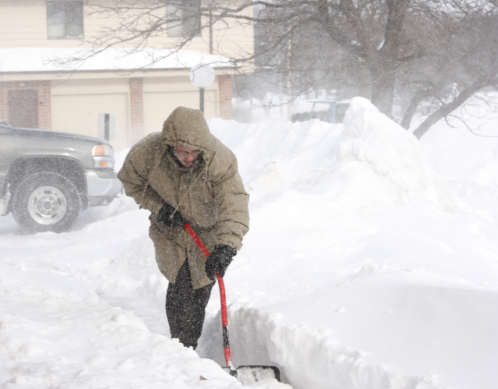 Image result for snow shoveling driveway