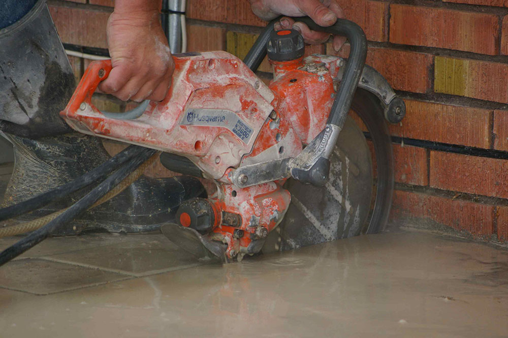 Patio concrete cutting buchheit construction