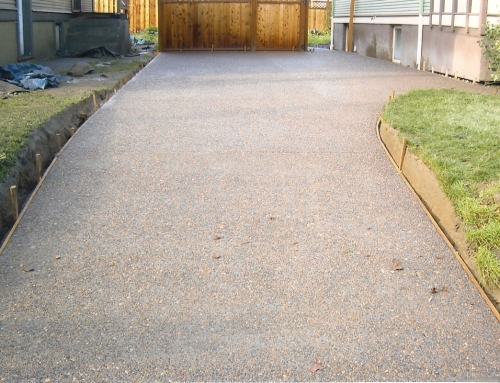 Exposed Aggregate Driveway Pouring