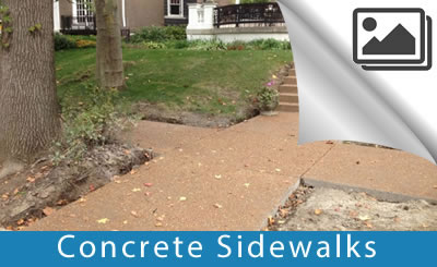 Concrete sidewalk | We design, pour and finish - Buchheit