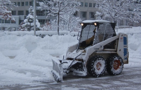 Snow plowing to keep the city functioning