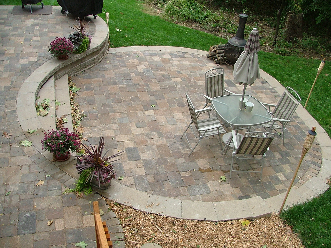 Multi-Level Concrete Patio - Buchheit Construction on Small Brick Patio Ideas id=95029